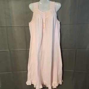 Adonna Pink Embrodered lace Nighty / Pajamas sz l